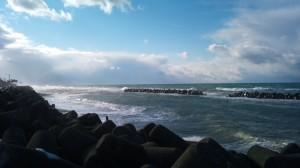 糸魚川能生海岸の荒波