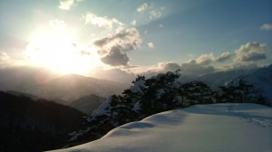 シーサイド頂上の日差し
