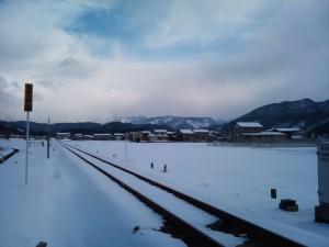 大糸線の大野駅付近