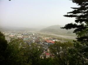 美山から姫川上流を臨む2
