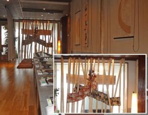 2013-14冬・春用の室内装飾。華やかな雰囲気を演出。